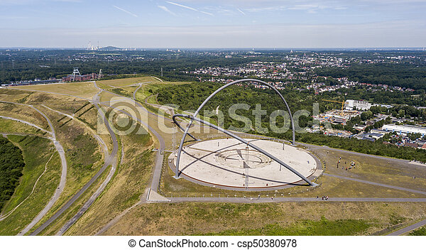 Aerial view of Horizon Observatory in Herten, North Rhine-Westphalia - csp50380978