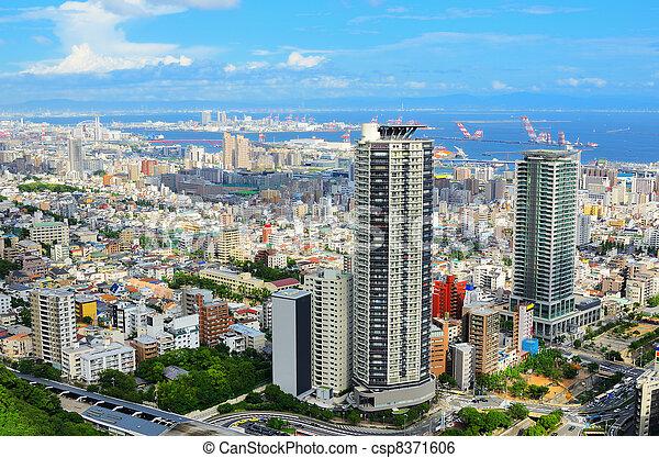 Aerial view of Kobe, Japan - csp8371606
