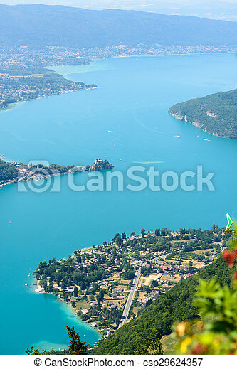 Aerial view of Lake Annecy - csp29624357