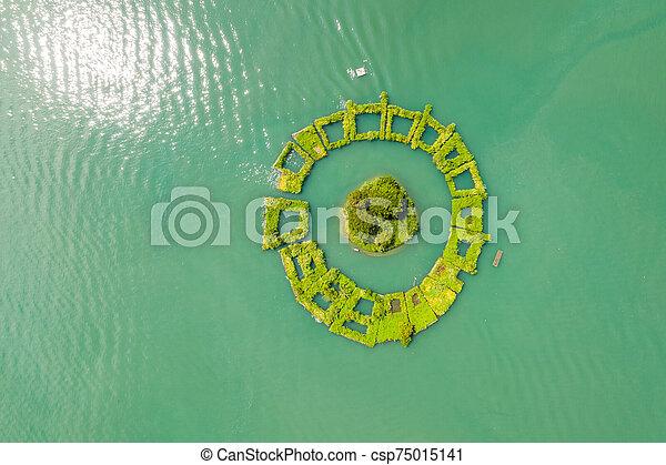 aerial view of Lalu island - csp75015141