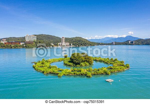 aerial view of Lalu island - csp75015391