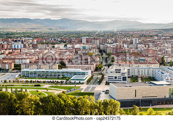 Aerial view of Logrono - csp24372175