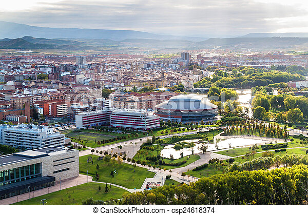 aerial view of logrono spain