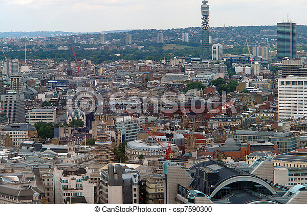 aerial view of London City - csp7590300