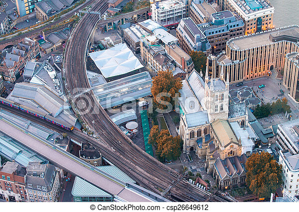 Aerial view of London - csp26649612