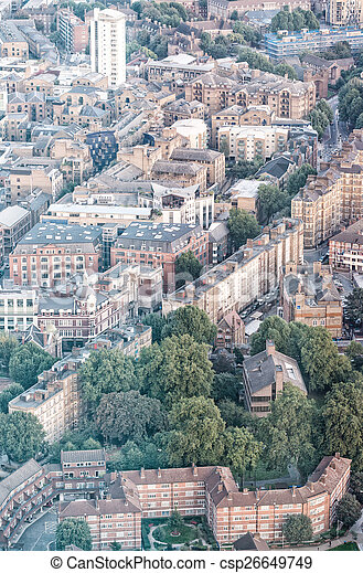 Aerial view of London - csp26649749