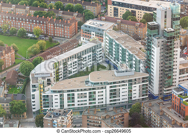 Aerial view of London - csp26649605