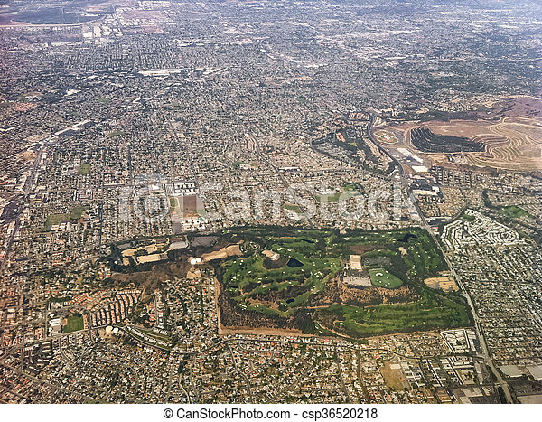 Aerial view of Los Angeles city, USA. - csp36520218