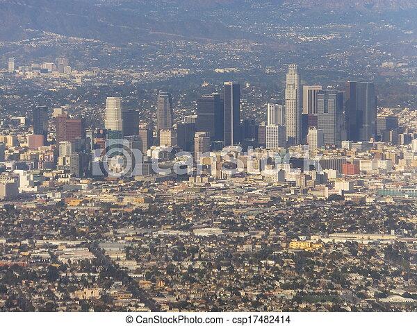 Aerial view of Los Angeles - csp17482414