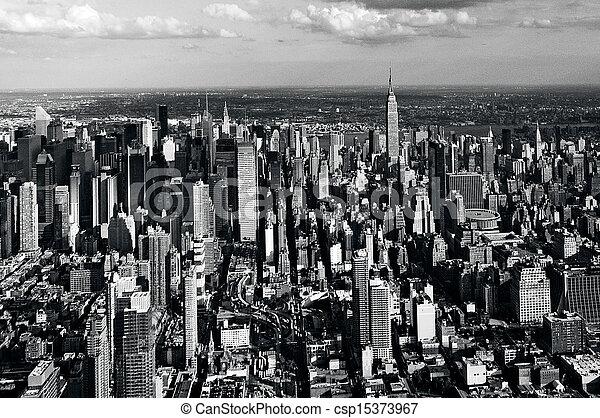 Aerial view of Manhattan New York City - csp15373967