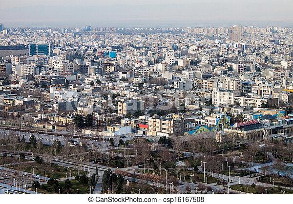 Aerial view of Mashhad, Iran - csp16167508
