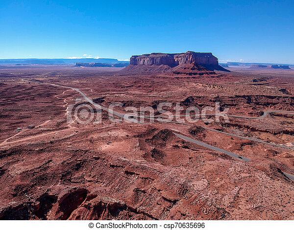 Aerial view of Monument Valley, Arizona, USA - csp70635696
