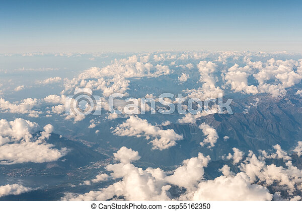 Aerial view of Mountain - csp55162350