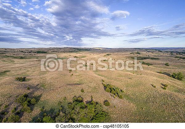 aerial view of Nebraska Sandhills - csp48105105