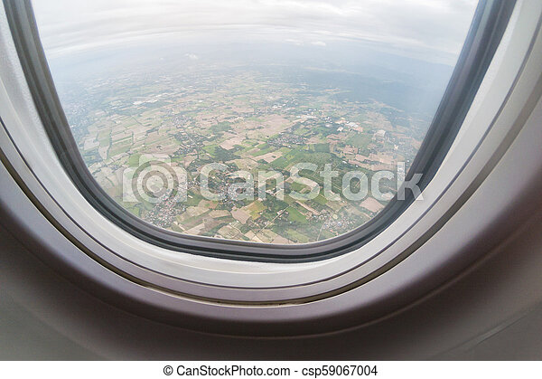 Aerial View Of North Thailand Area As Seen From The Airplane On Sunny Day. - csp59067004