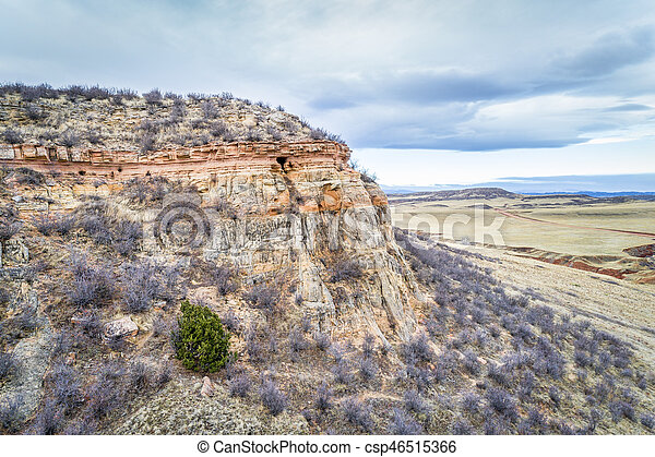 aerial view of northern Colorado foothills - csp46515366