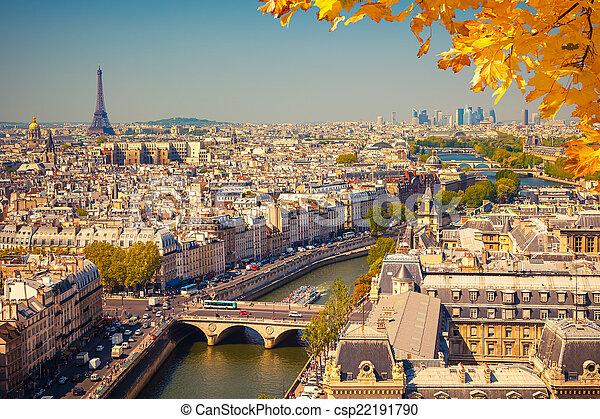 Aerial view of Paris - csp22191790