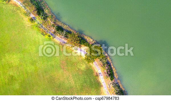Aerial view of park - csp67984783
