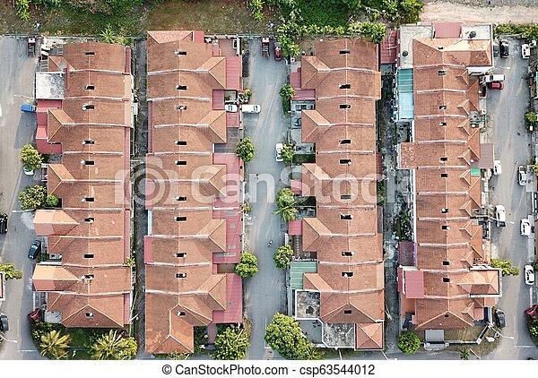Aerial view of residential area in Selangor. - csp63544012