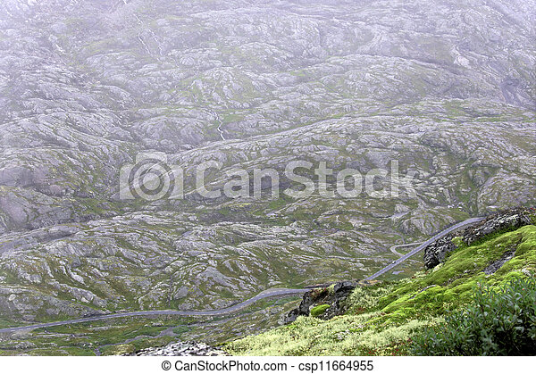Aerial view of road - csp11664955