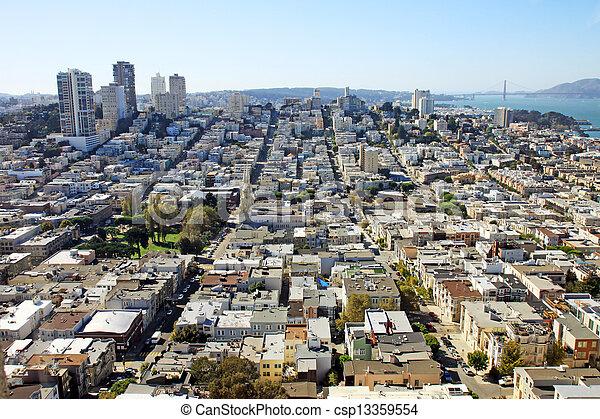 Aerial view of San Francisco - csp13359554