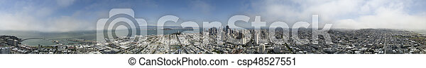 Aerial View of San Francisco - csp48527551