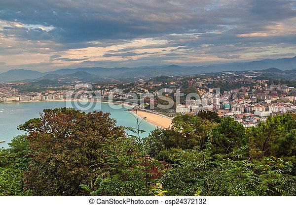 Aerial view of San Sebastian - csp24372132