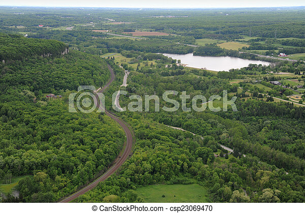 Aerial view of southern Ontario - csp23069470