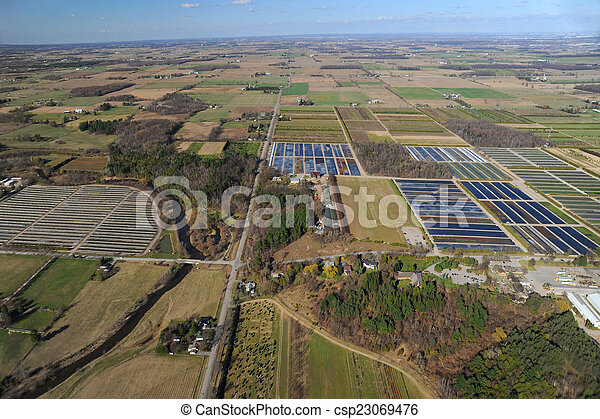 Aerial view of southern Ontario - csp23069476