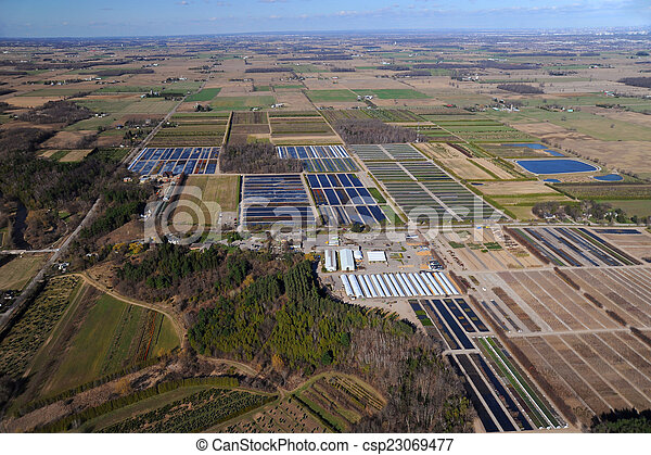 Aerial view of southern Ontario - csp23069477