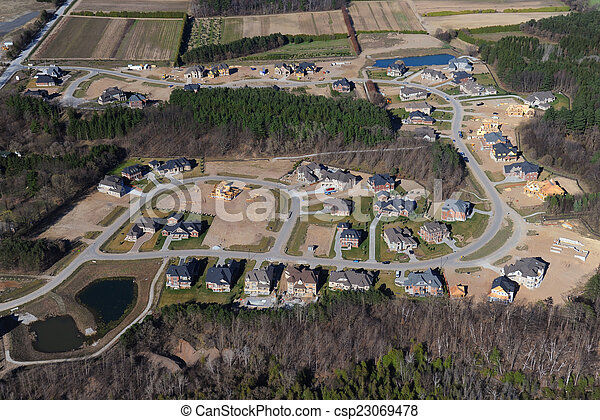 Aerial view of southern Ontario - csp23069478