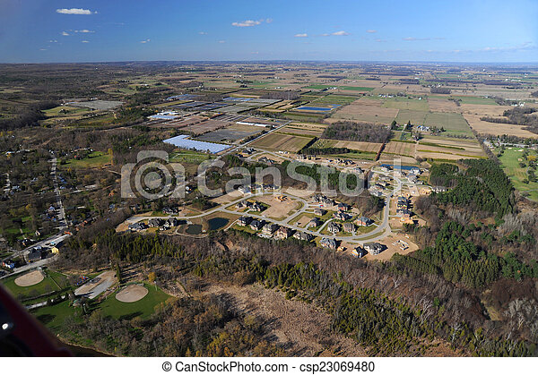 Aerial view of southern Ontario - csp23069480