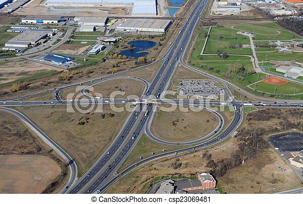 Aerial view of southern Ontario - csp23069481