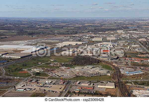 Aerial view of southern Ontario - csp23069428