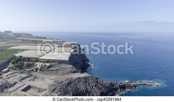 Aerial view of Tenerife coast, Spain - csp43391964