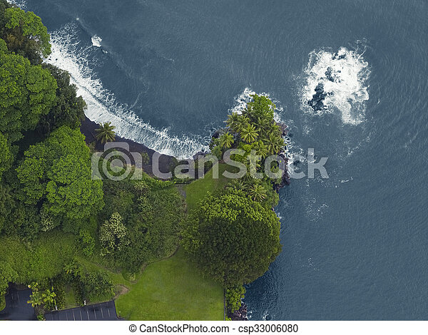 Aerial view of the north coast - csp33006080