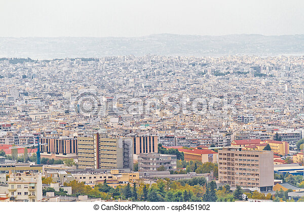 Aerial view of Thessaloniki, Greece - csp8451902