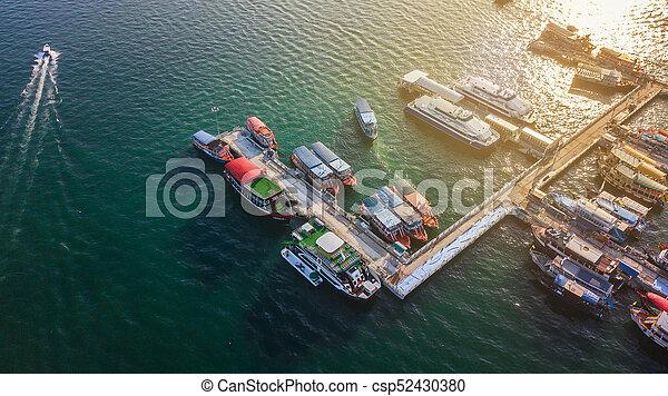 Aerial view of Tour port in Pattaya , Thailand - csp52430380