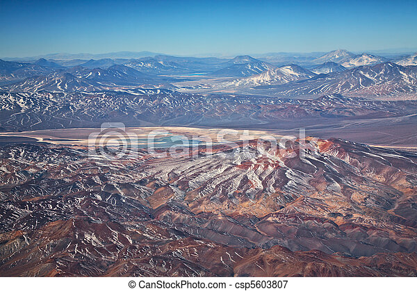 aerial view of volcanoes in Atacama desert, Chile - csp5603807