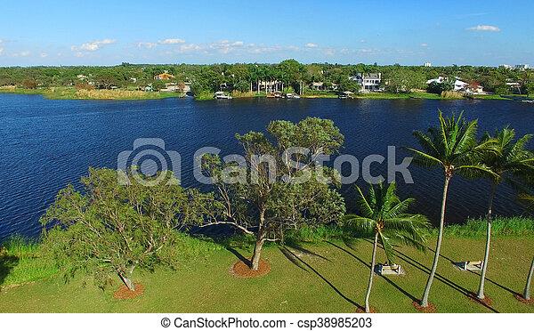 Aerial view of West Palm Beach, Florida - csp38985203