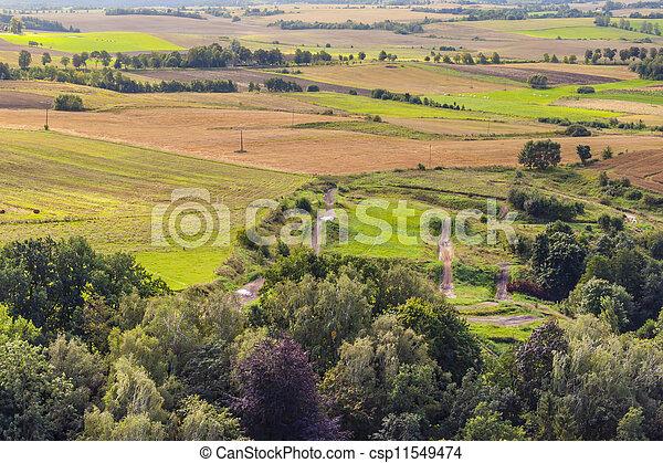 Aerial view on rural - csp11549474