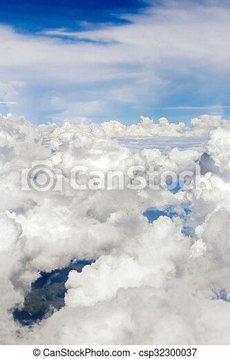 Aerial view over the clouds. - csp32300037