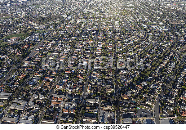 Aerial View Southern California South Bay Housing - csp39520447