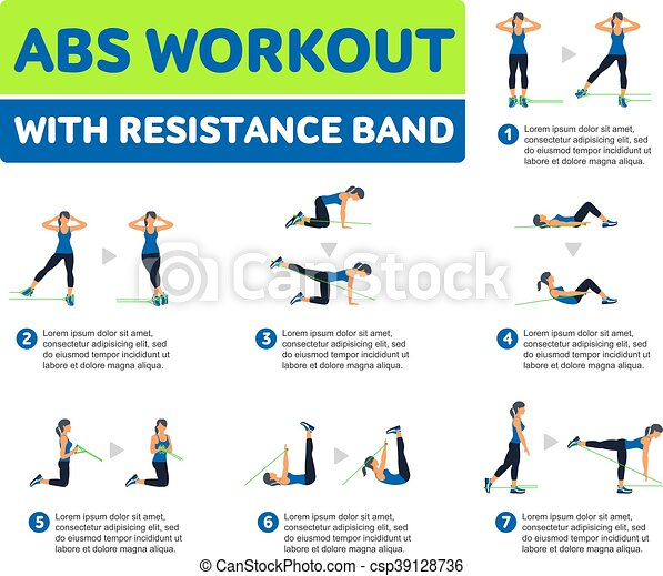 Aerobic Icons Abs Workout Abs Workout With Resistance Band