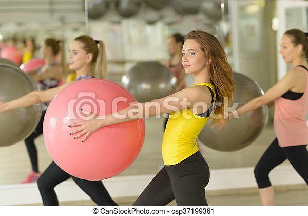 Aerobics at Gym - csp37199361