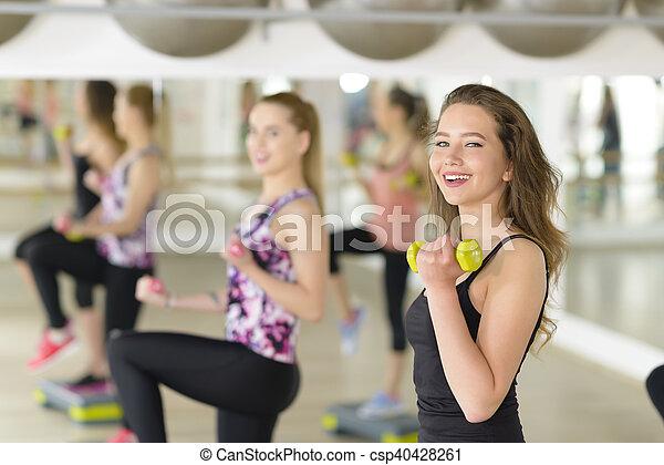 Aerobics at Gym - csp40428261