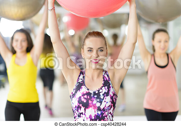 Aerobics at Gym - csp40428244