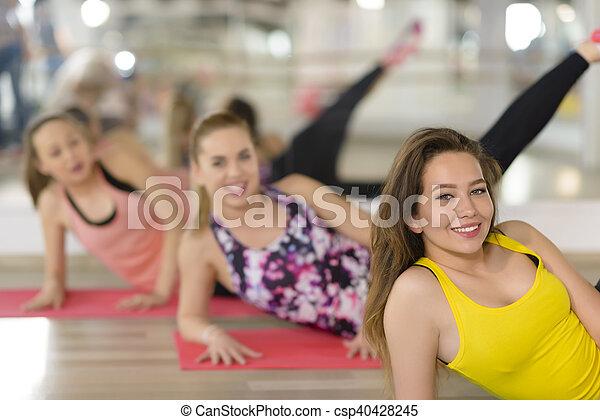 Aerobics at Gym - csp40428245