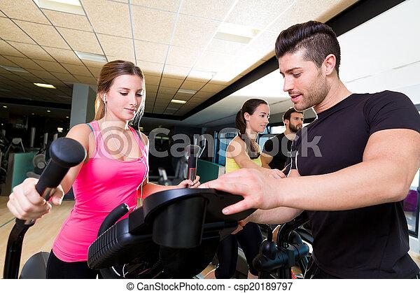 Aerobics elliptical walker trainer personal trainer - csp20189797