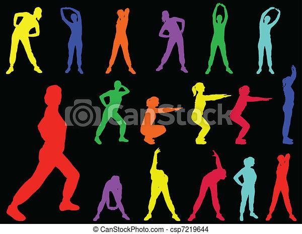 aerobics girl 5 - vector - csp7219644